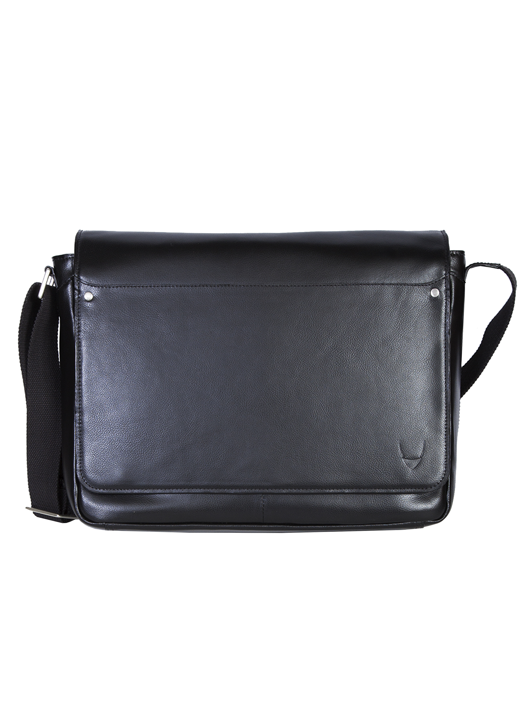 Corporate leather messenger bag