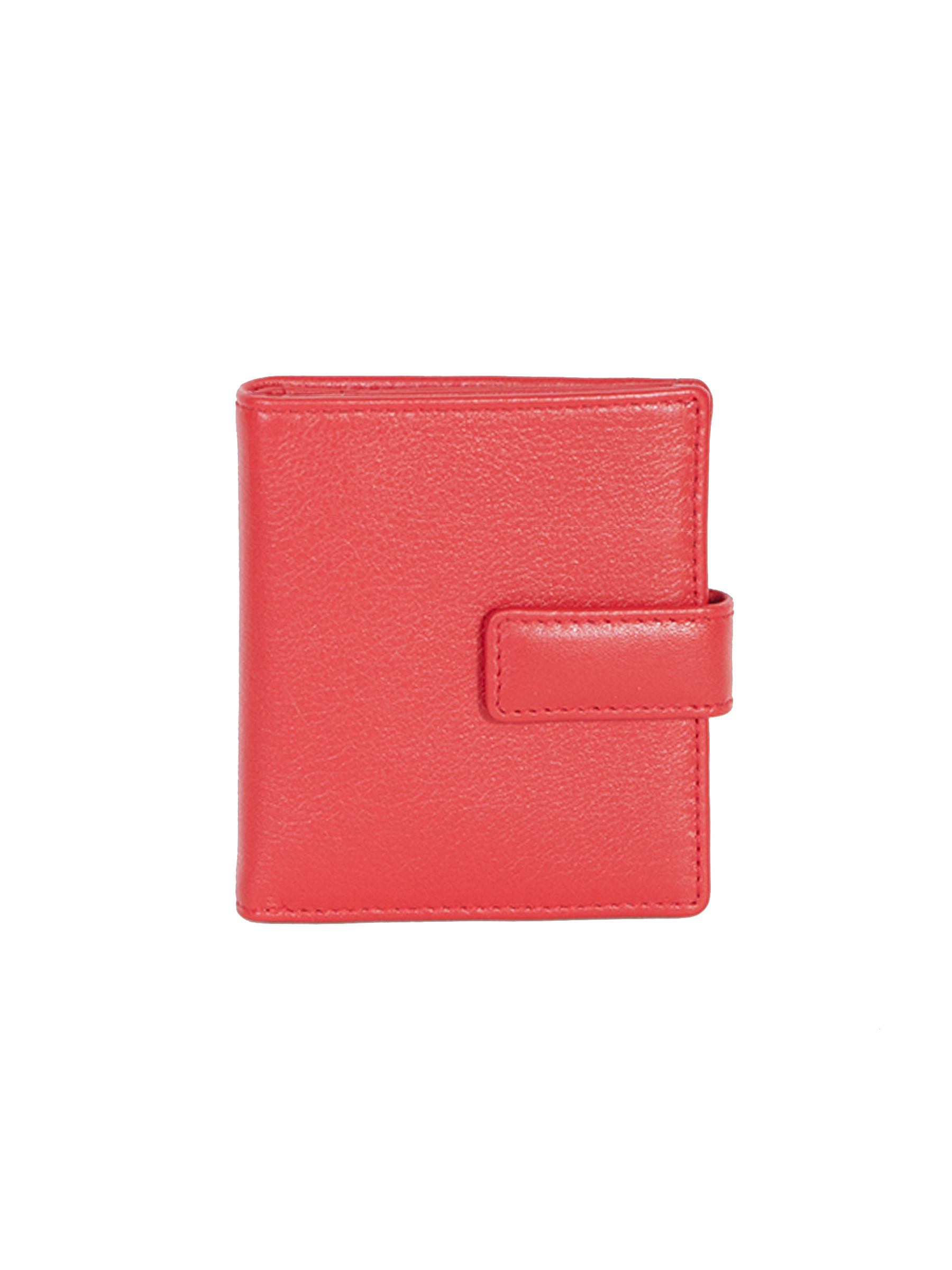 Ladies leather mini wallet with tab closure