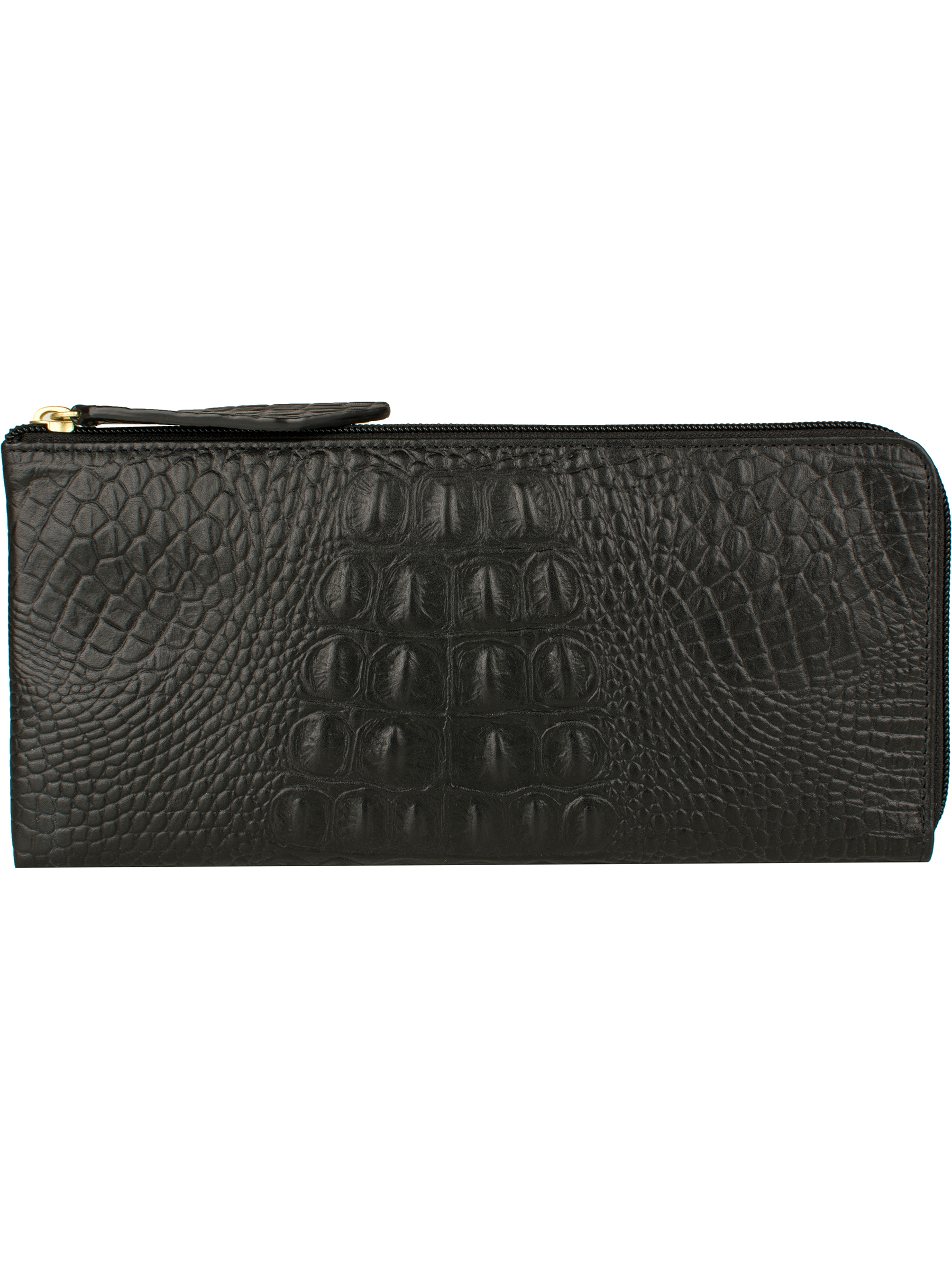 Embossed croco leather wallet