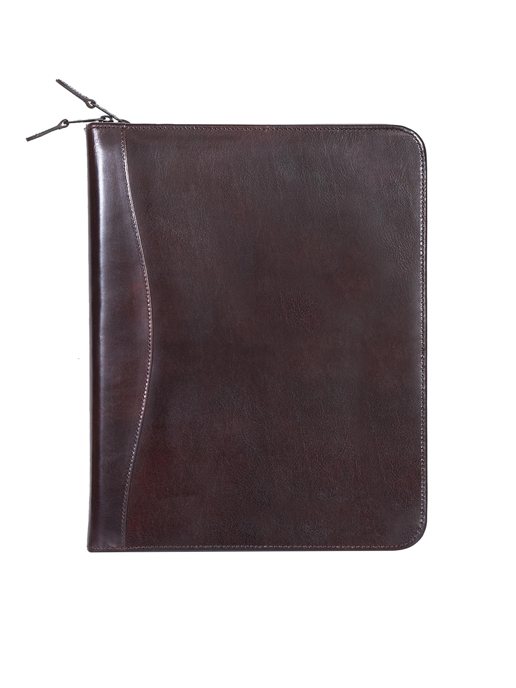 Leather 3 ring zip binder