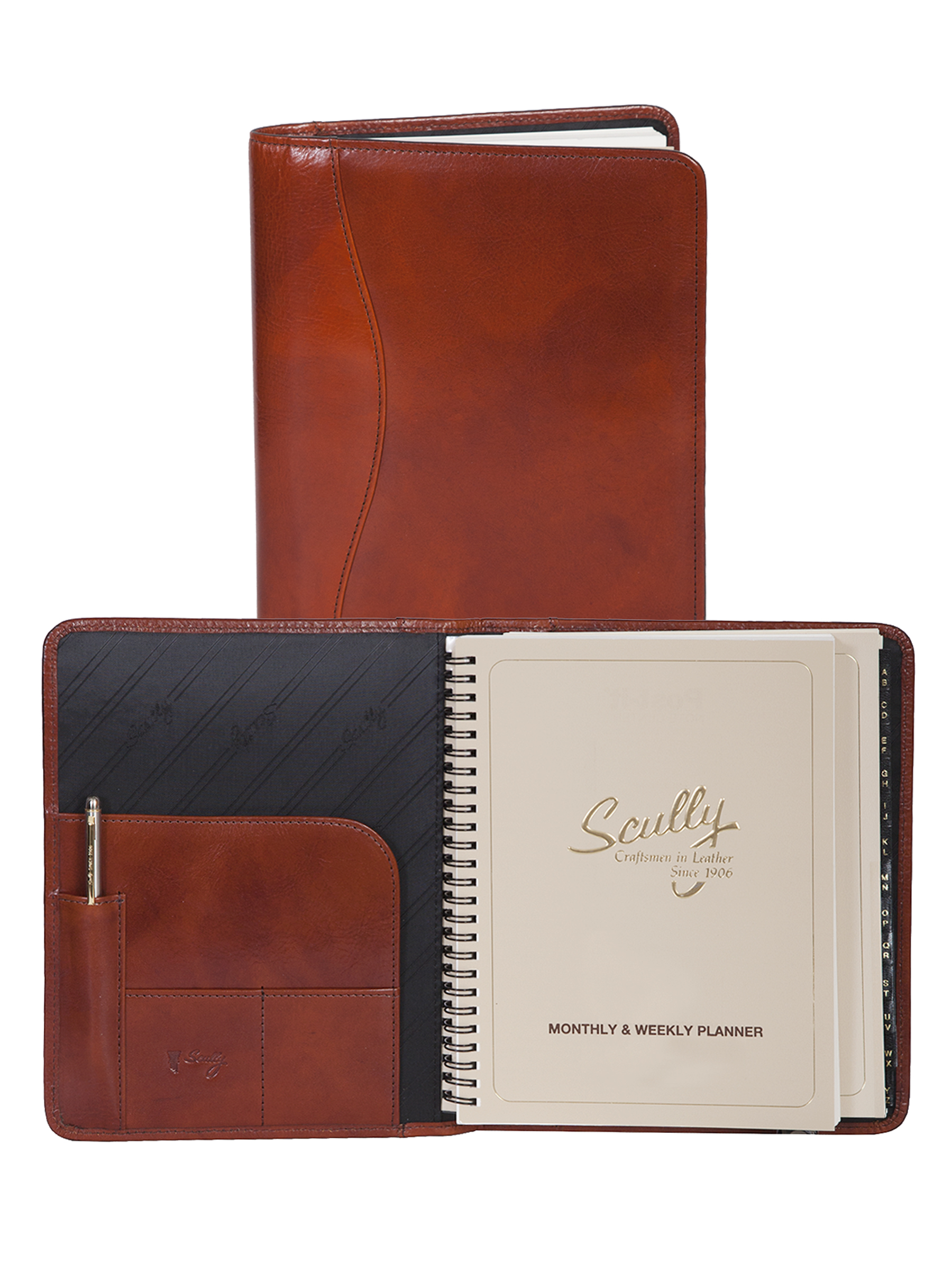 Leather desk size planner