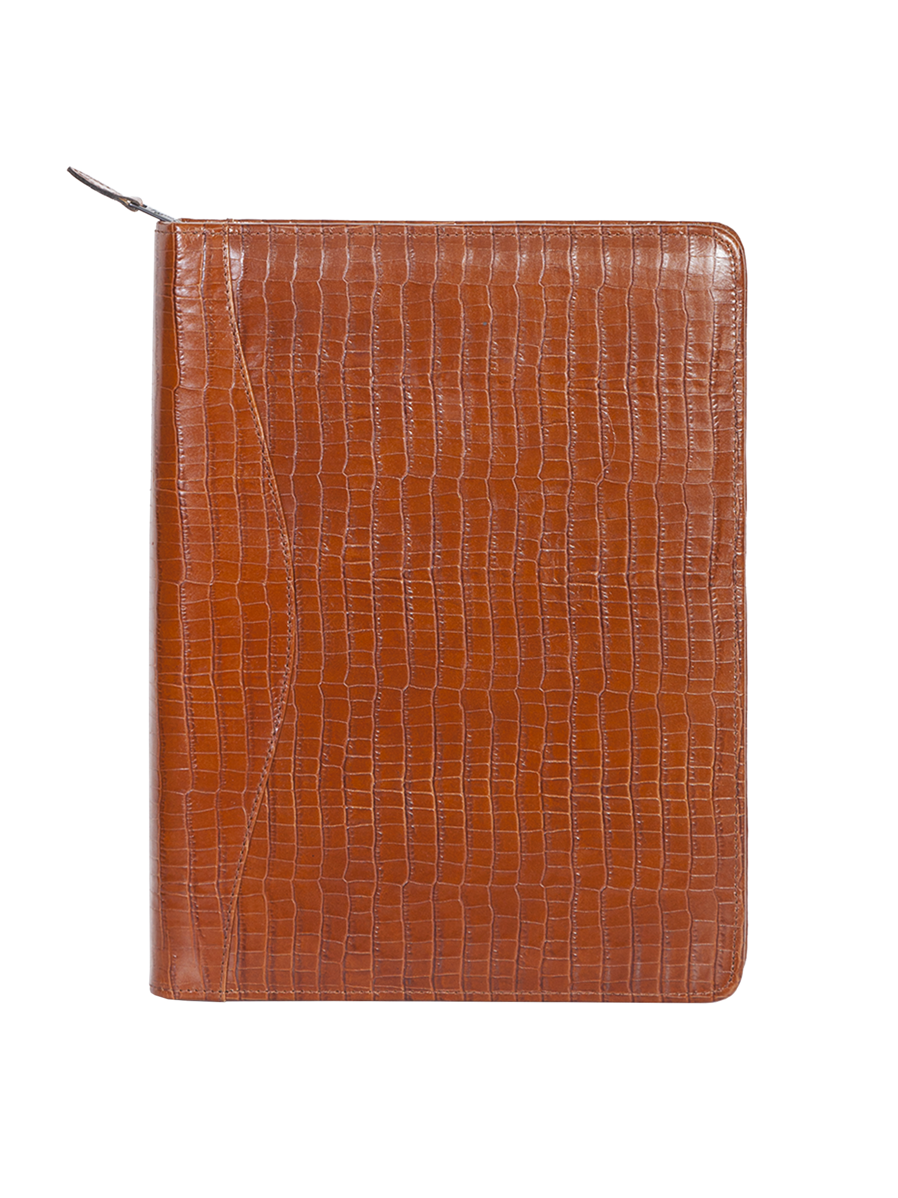 Leather zip letter pad