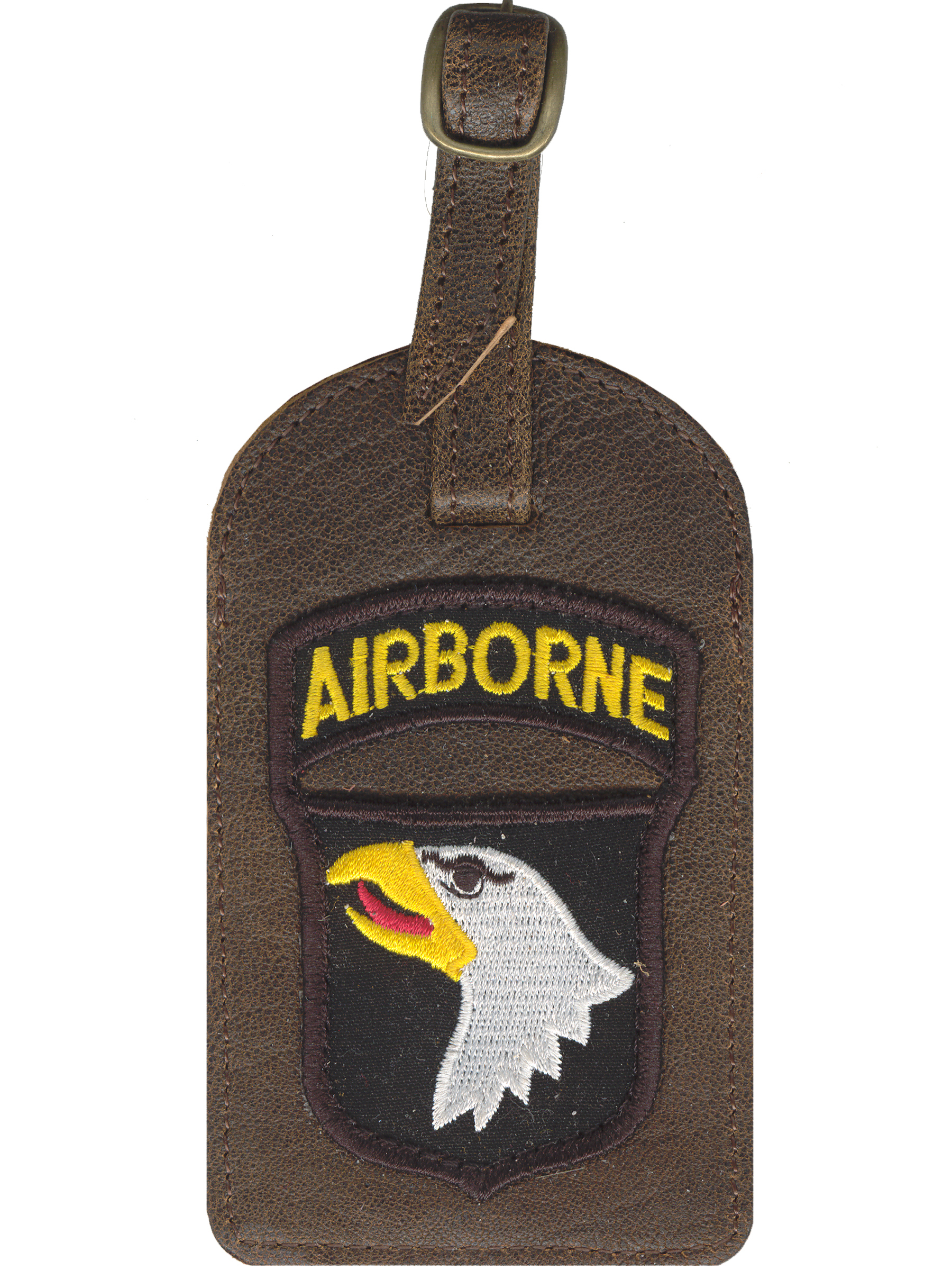Aero squadron luggage tag w/eagle patch
