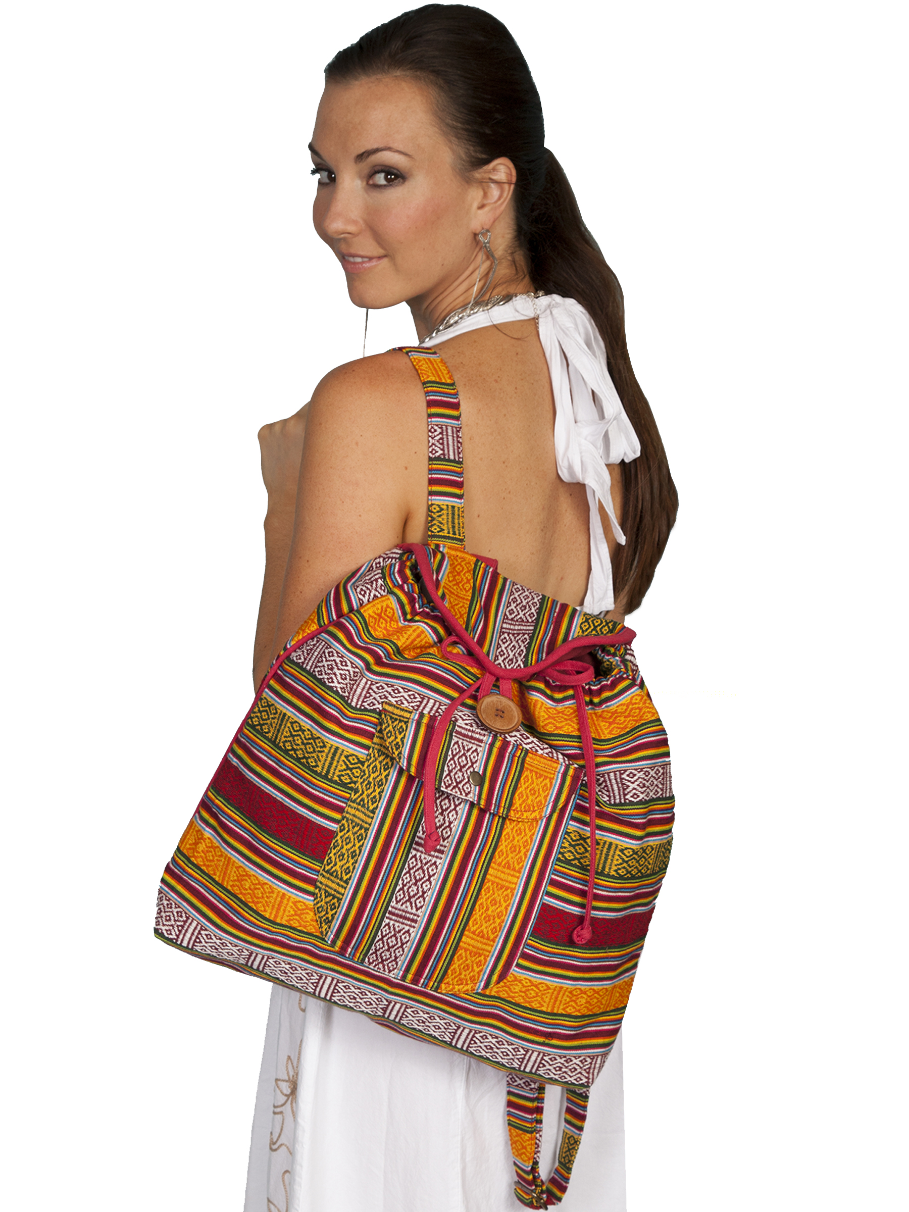 Fiesta colored southwest stripe backpack