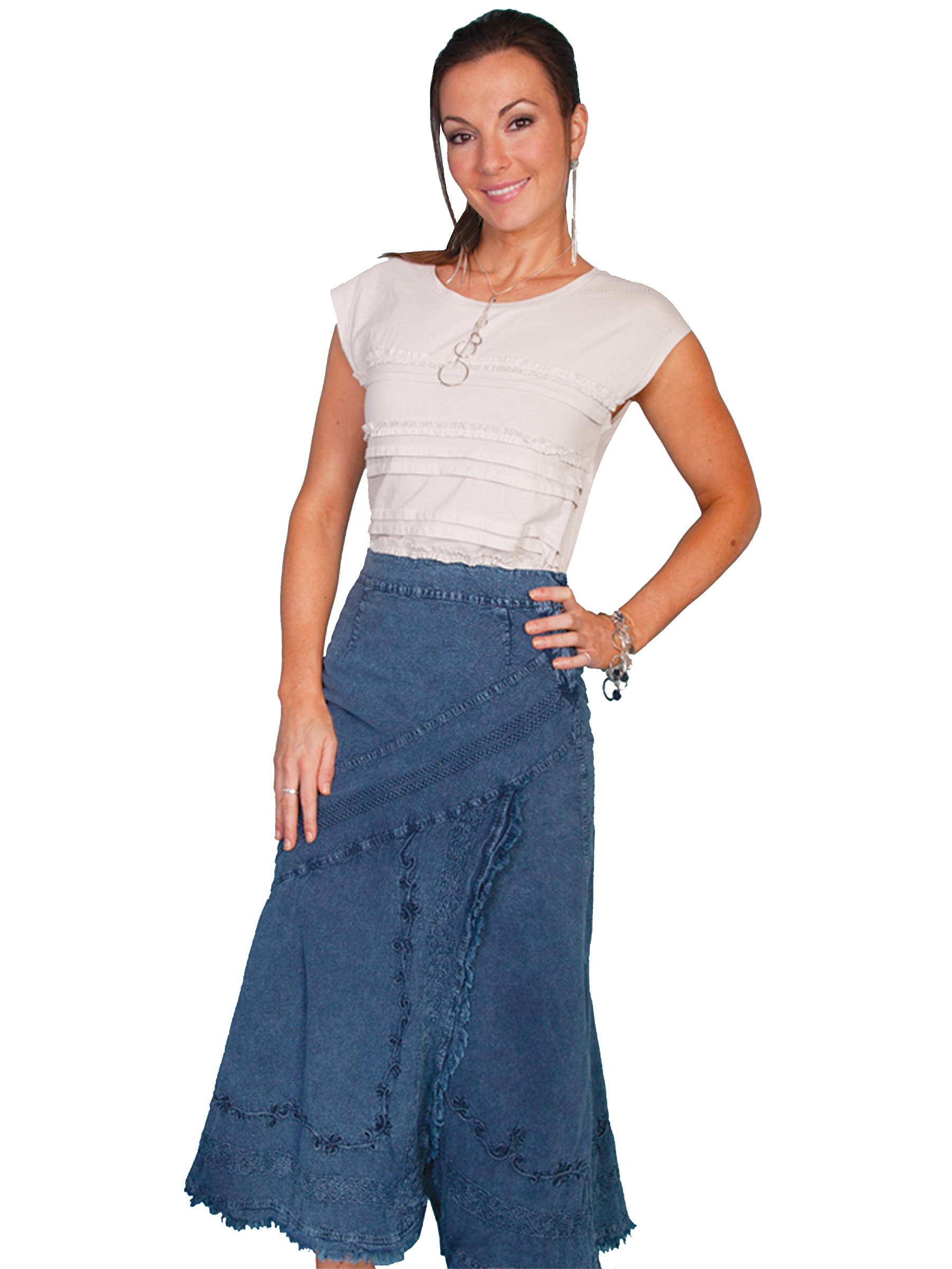 100% peruvian cotton skirt with elastic back