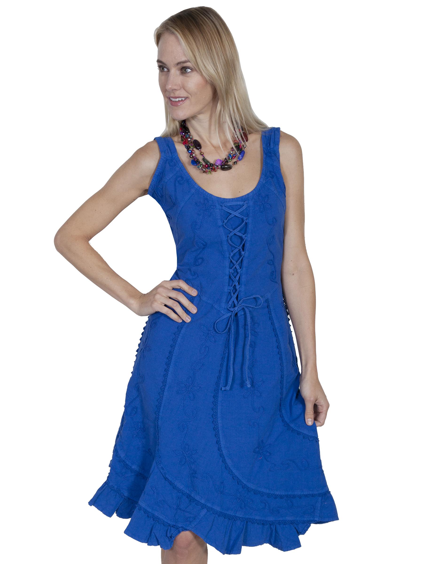 Sleeveless dress 100% peruvian cotton