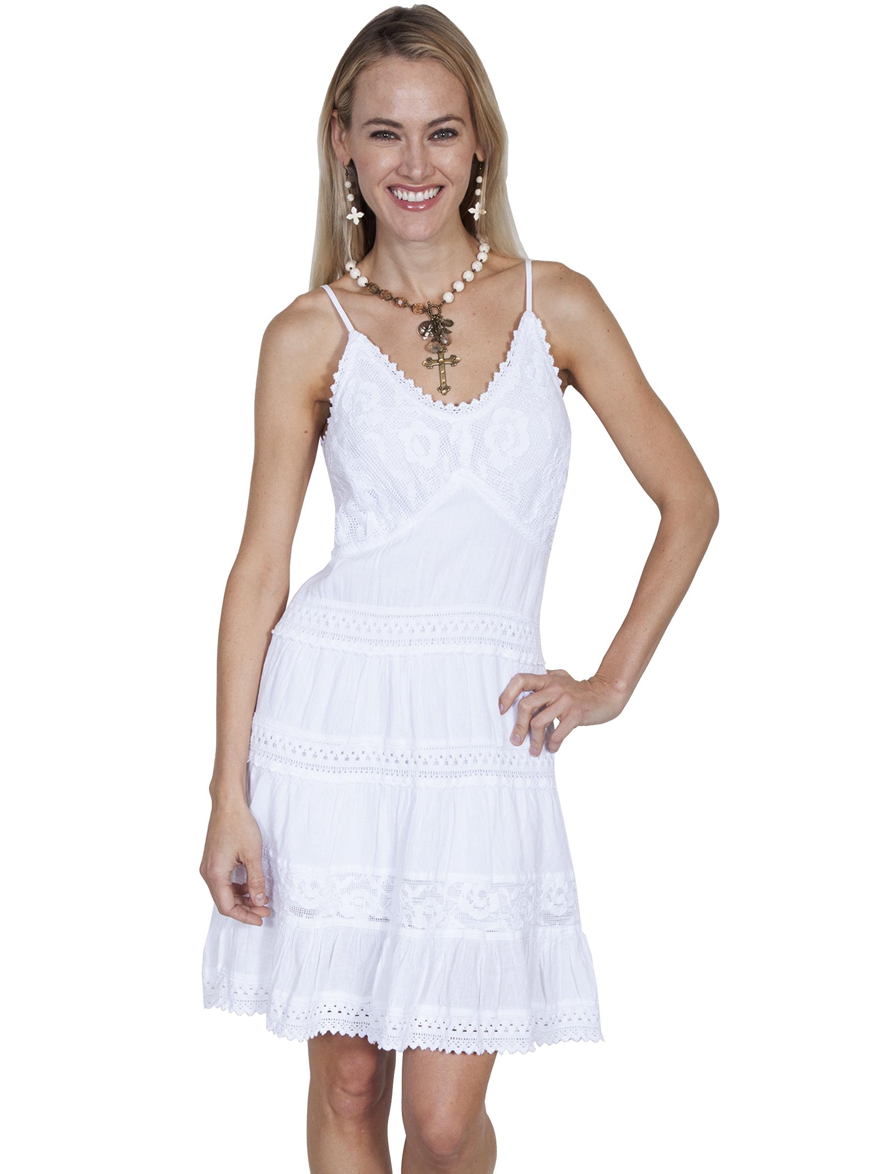 100% peruvian cotton short dress with spaghetti straps