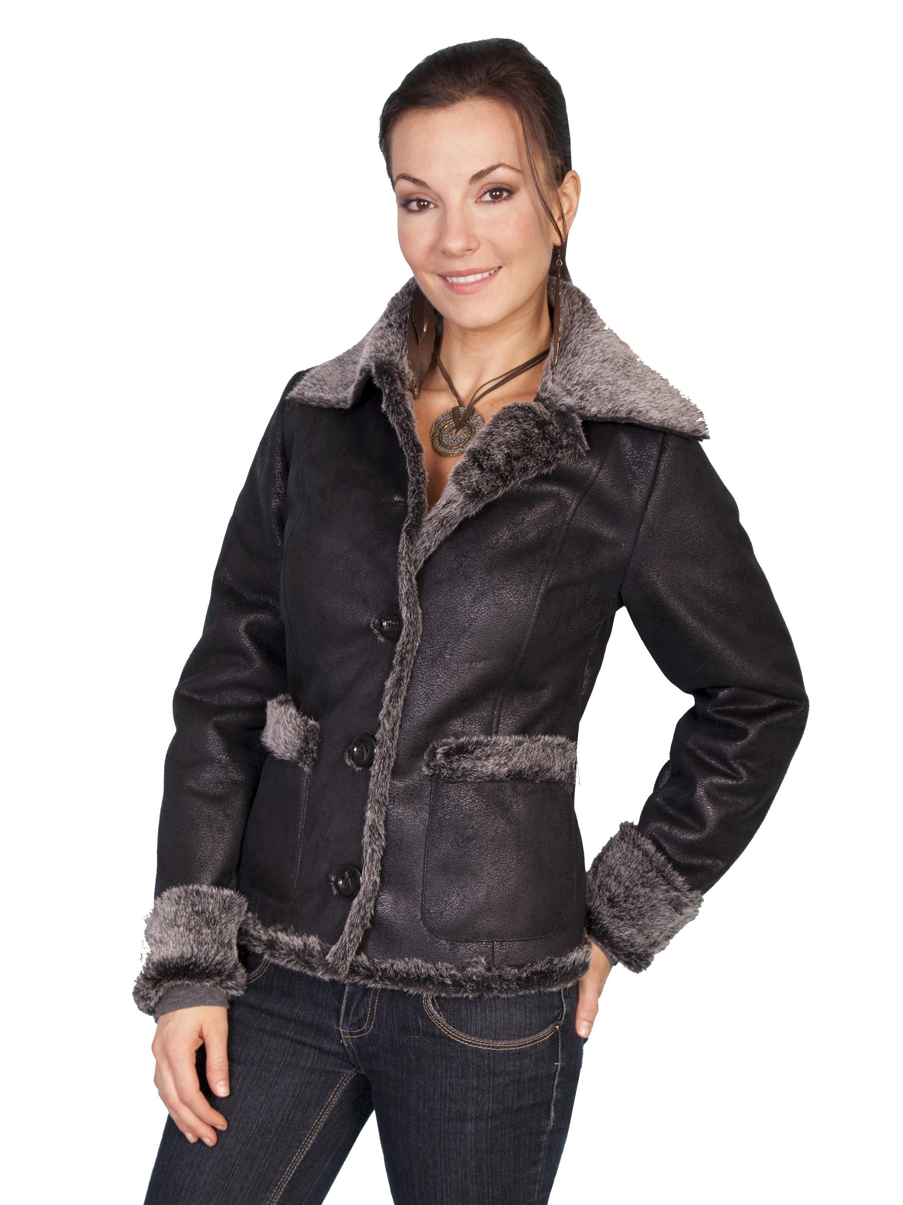 Fashionable faux fur jacket
