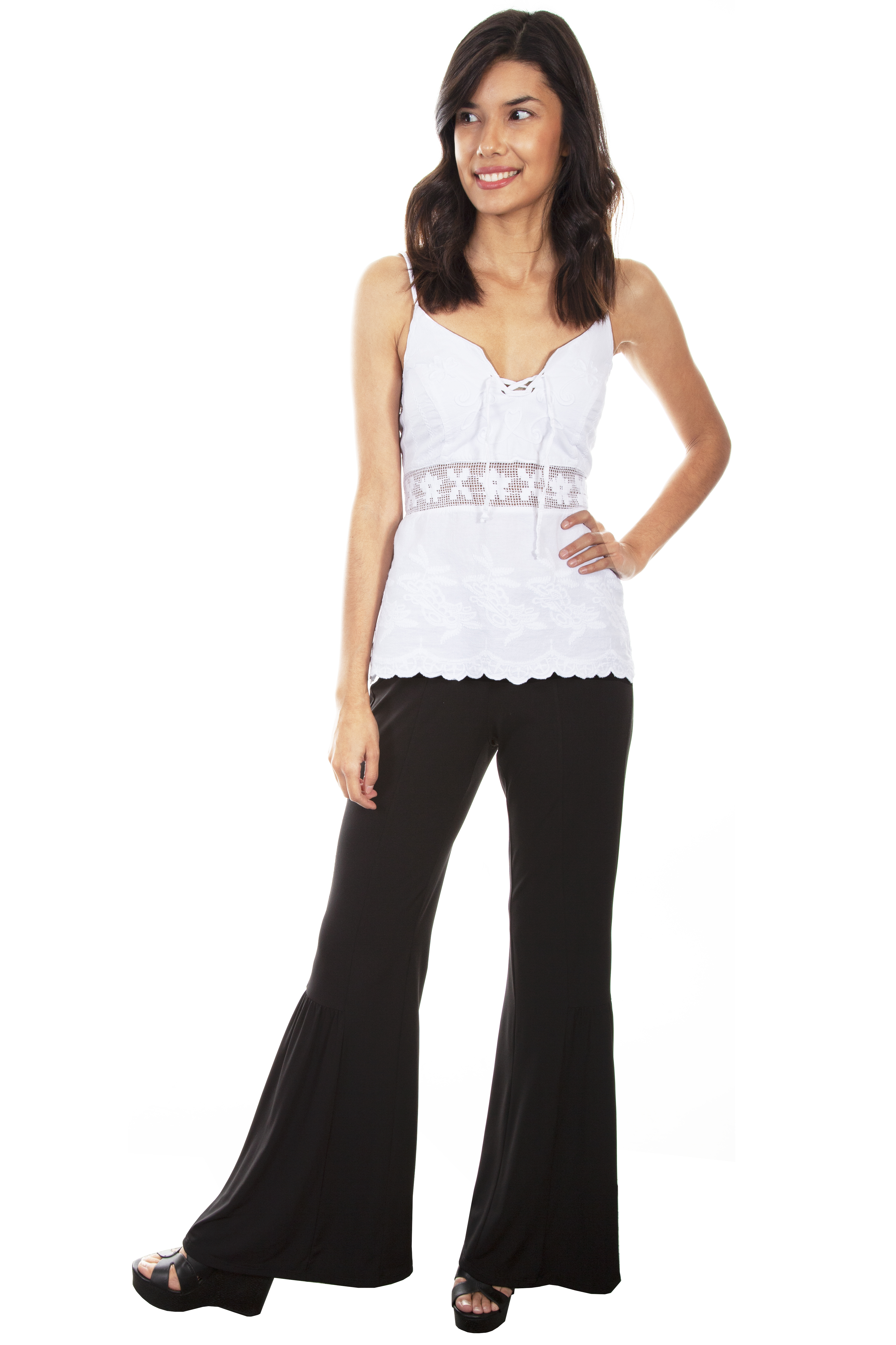 BELL BOTTOM PULL UP PANT