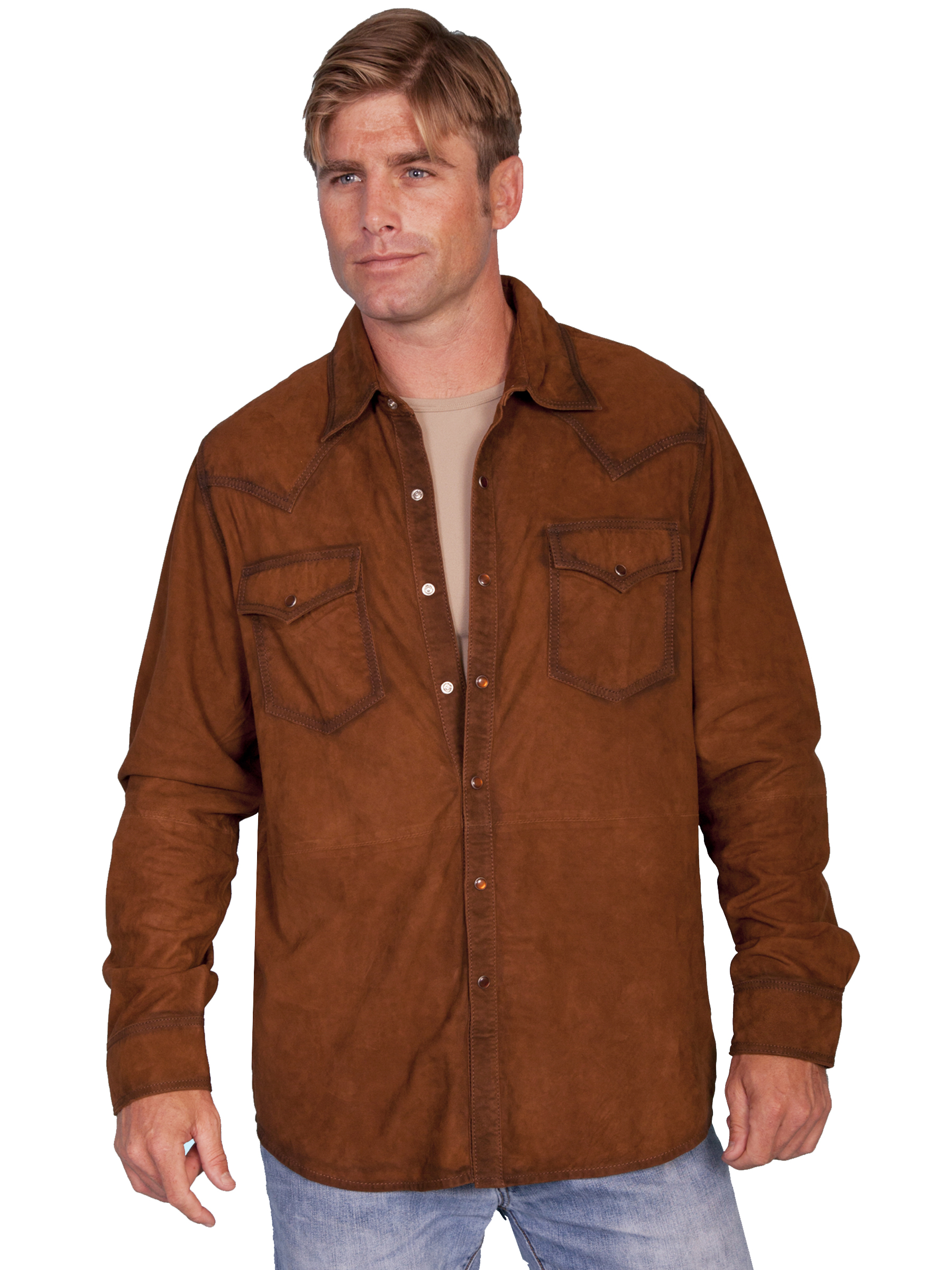 cfb2838e4 Scully WESTERN SUEDE SHIRT