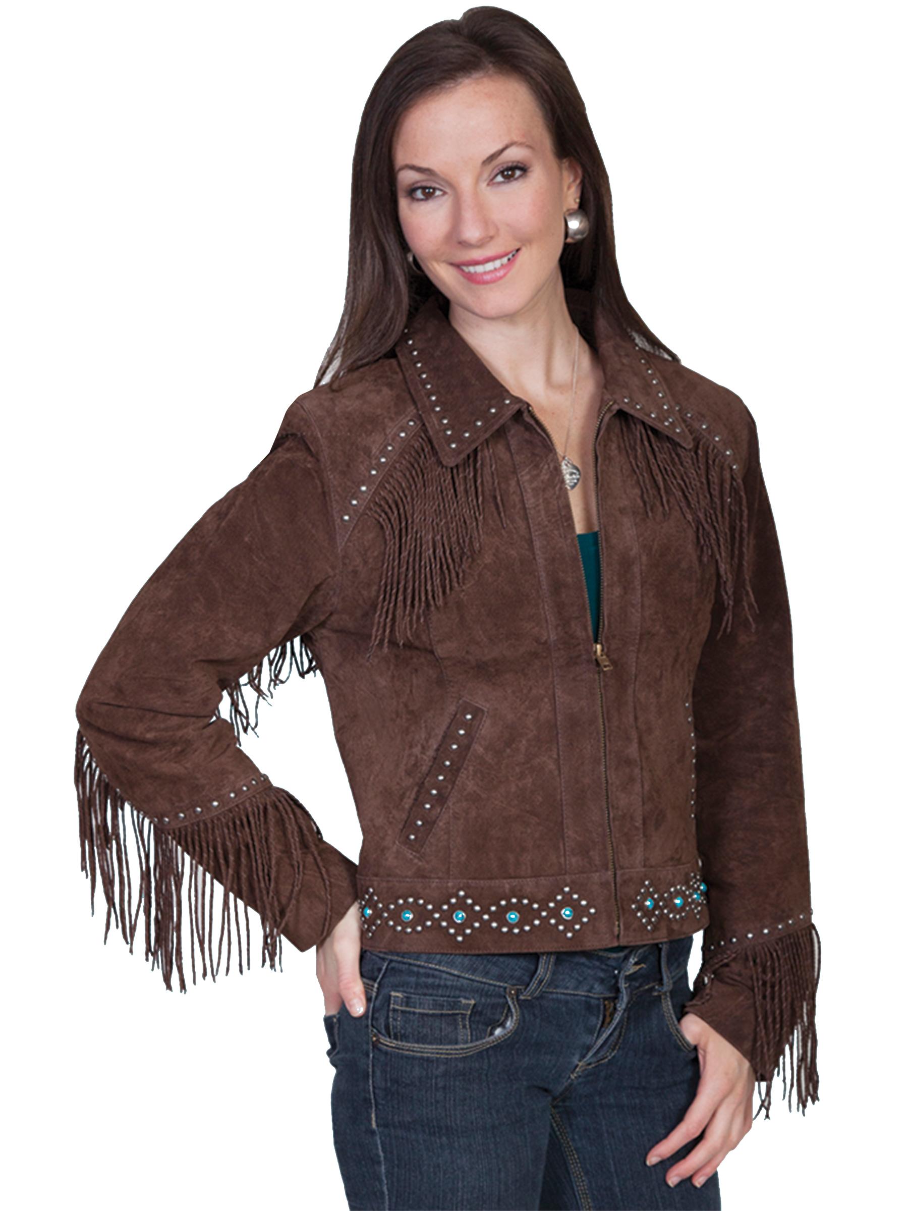 Studded fringe jacket