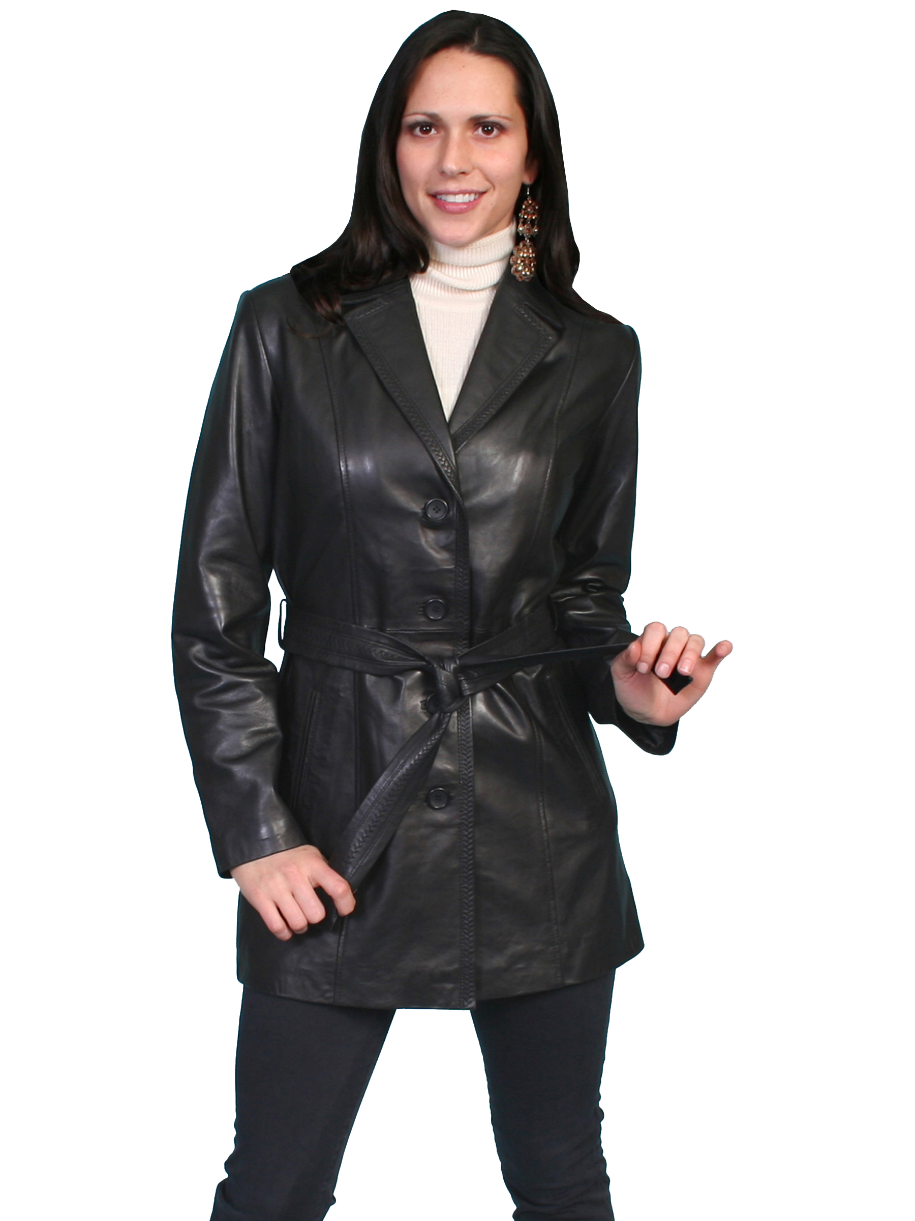 Classic style thigh length coat