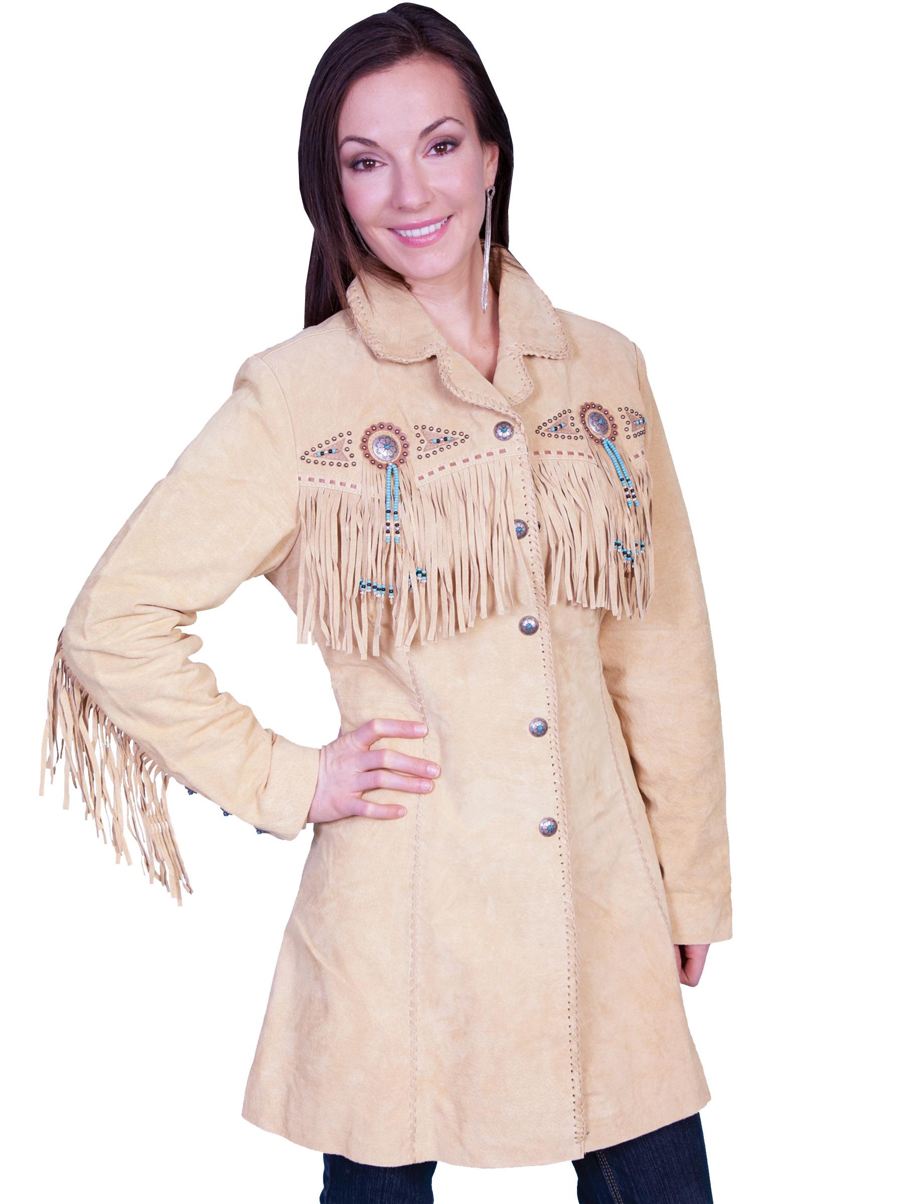 3/4 length boar suede coat