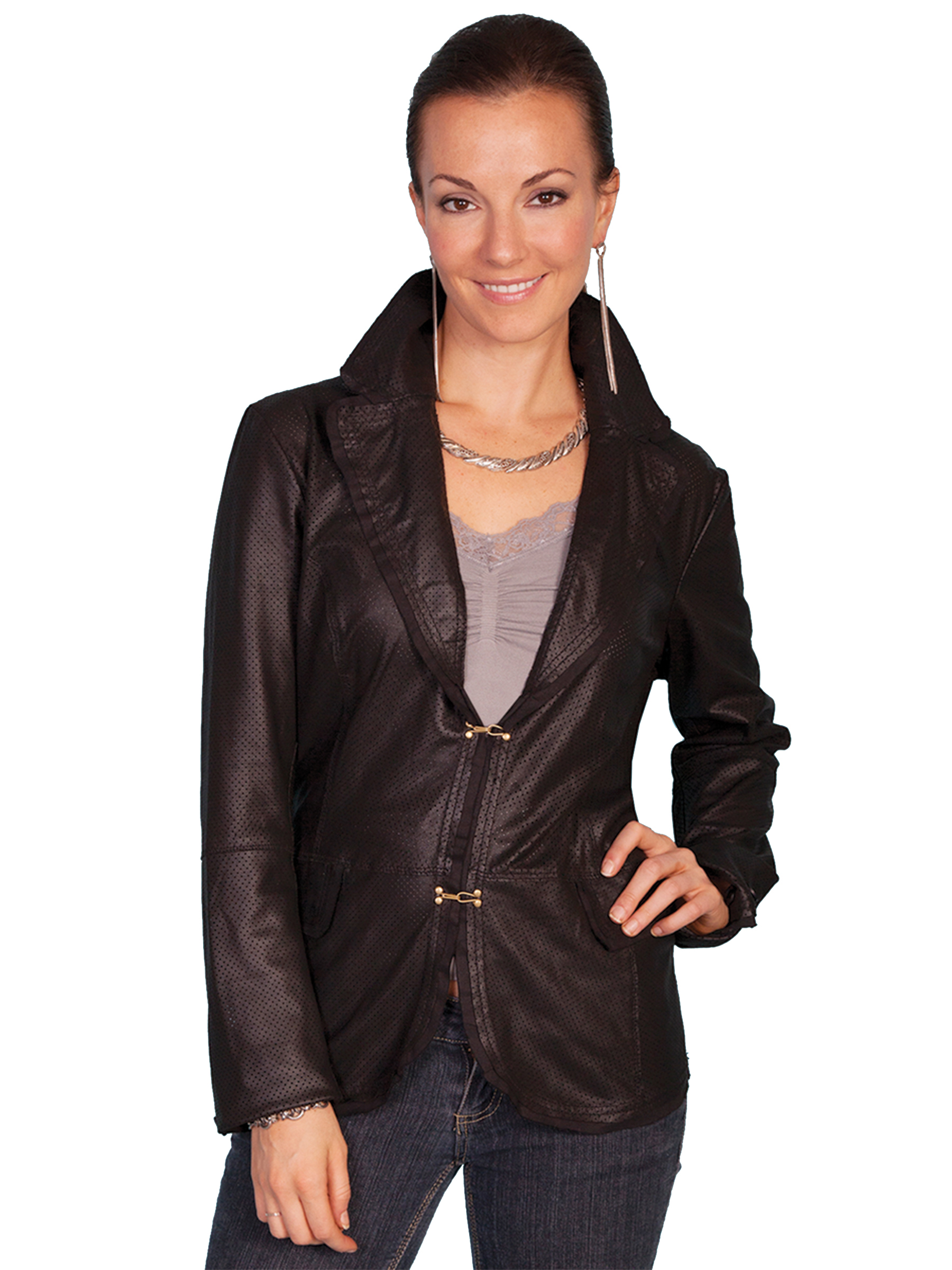 Featherlite premium perforated leather jacket
