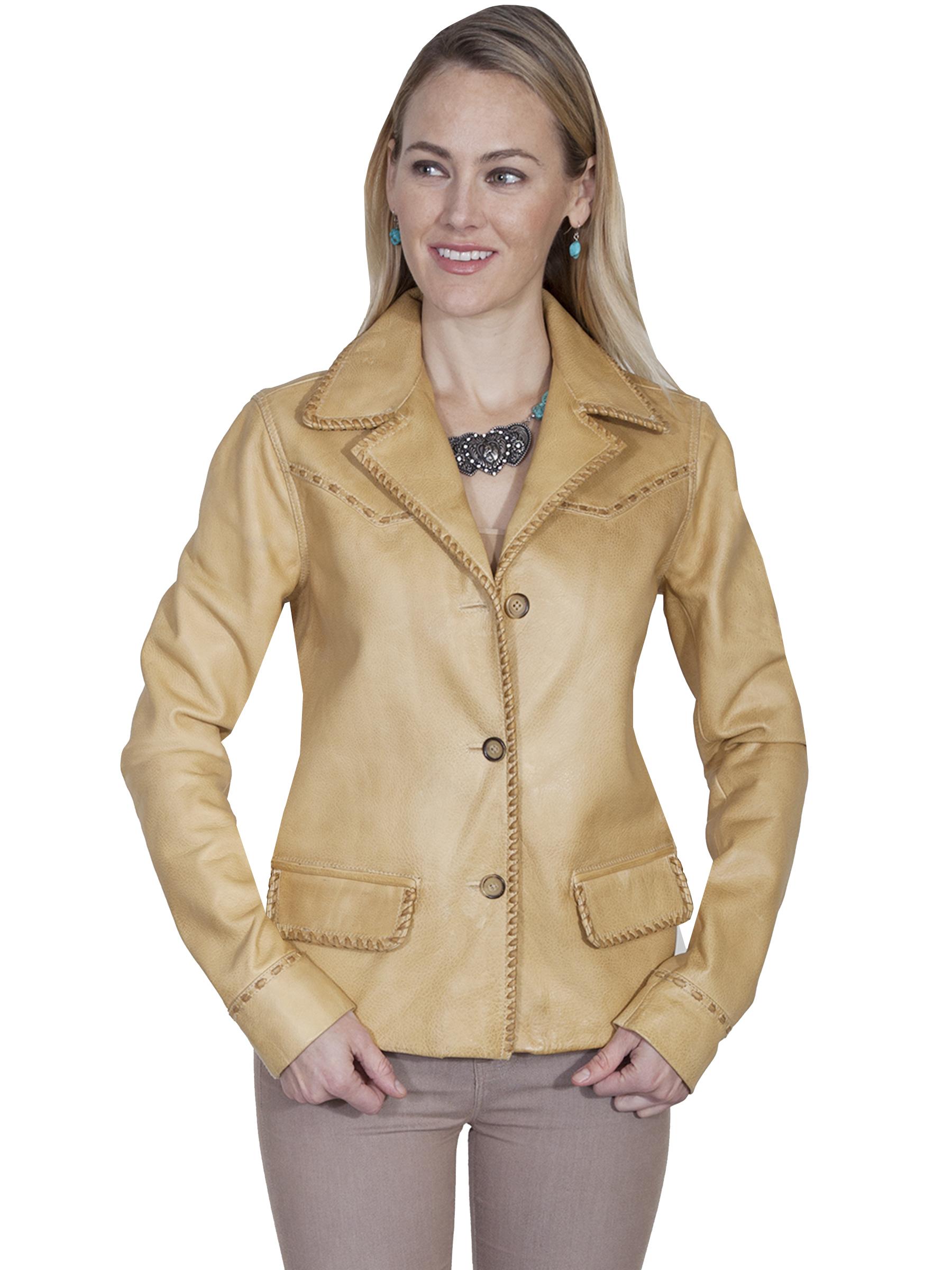 Western blazer with whip stitch trim