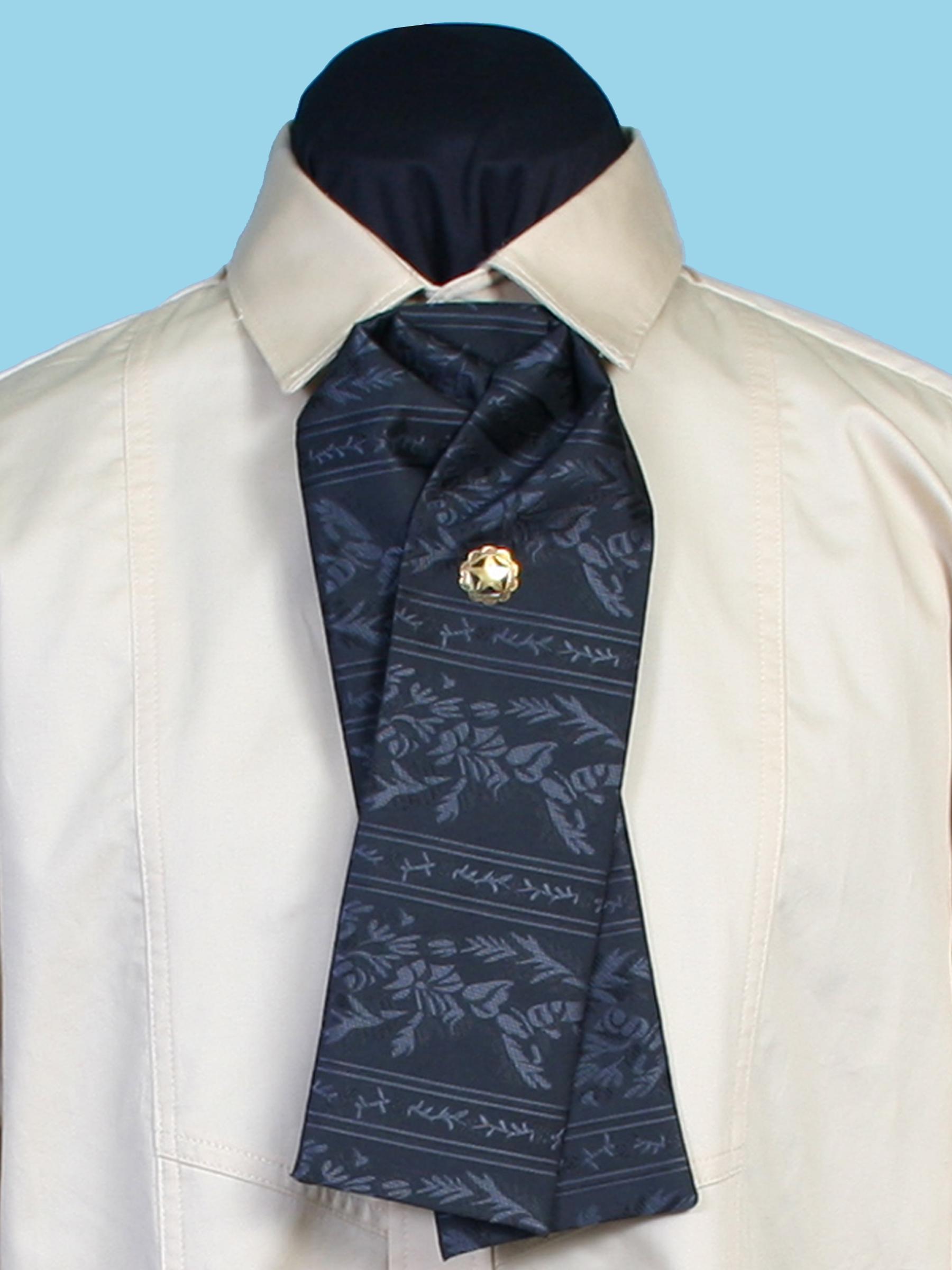 Floral stripe gentlemen's tie