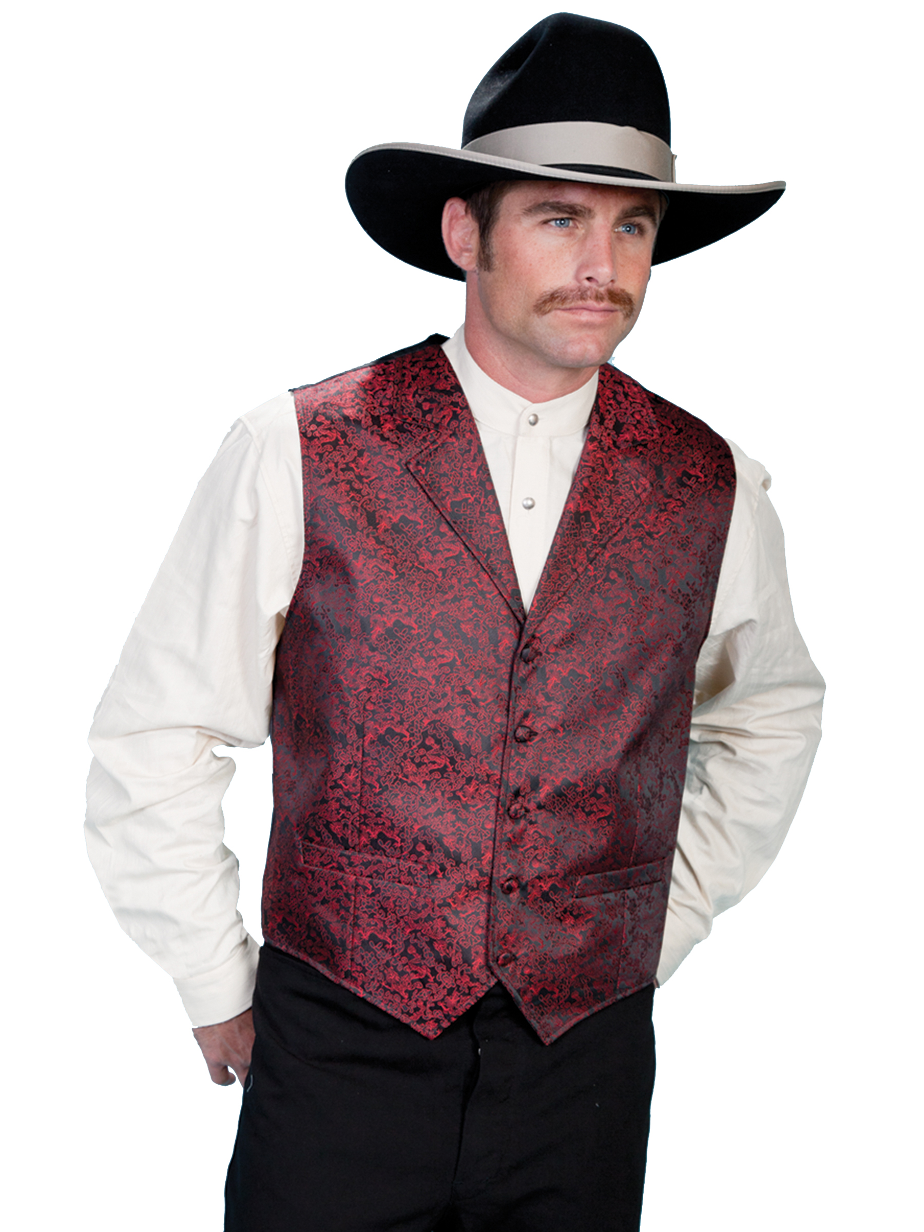 A classic vest with an elegant dragon pattern