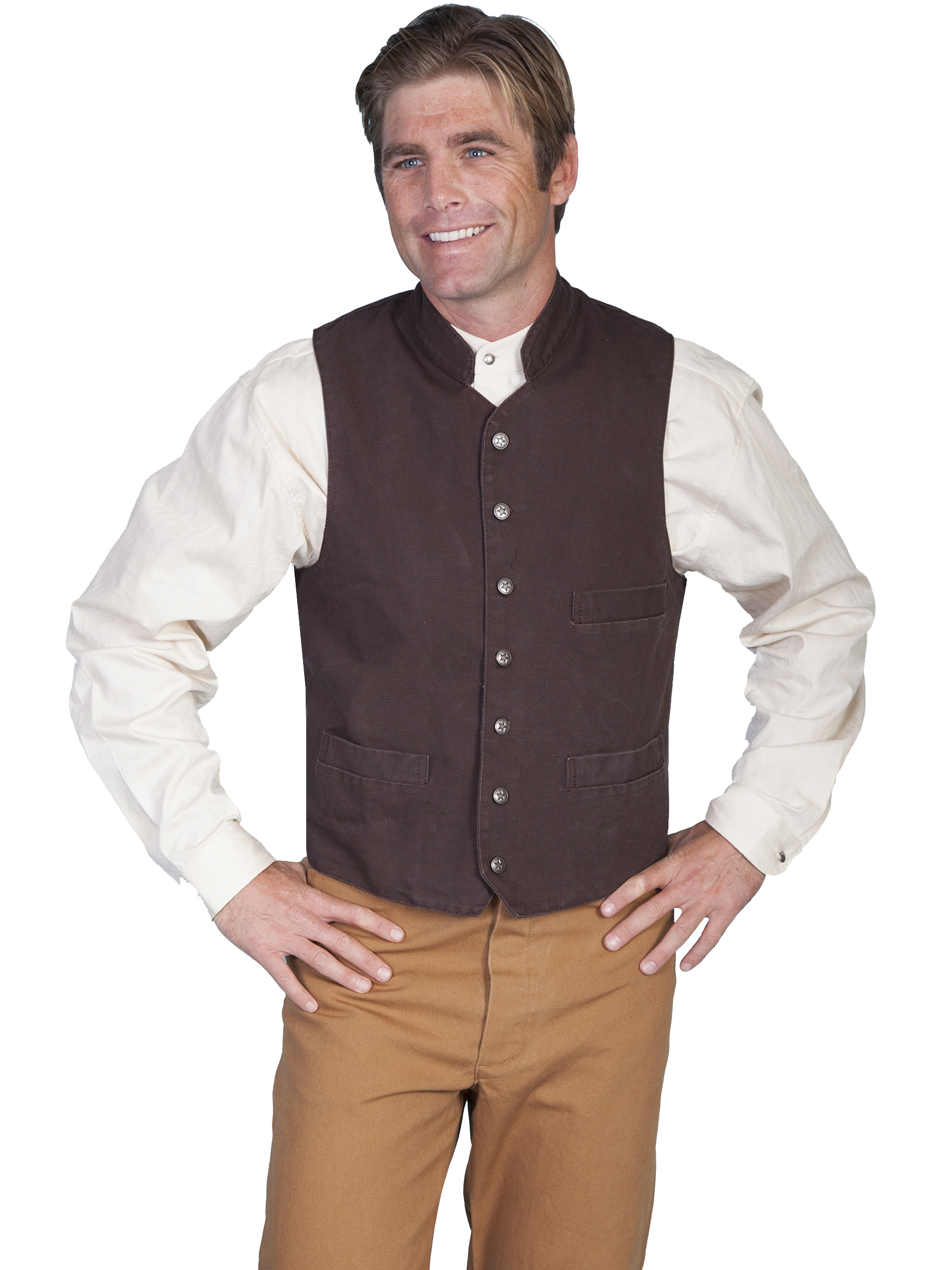 100% cotton canvas vest
