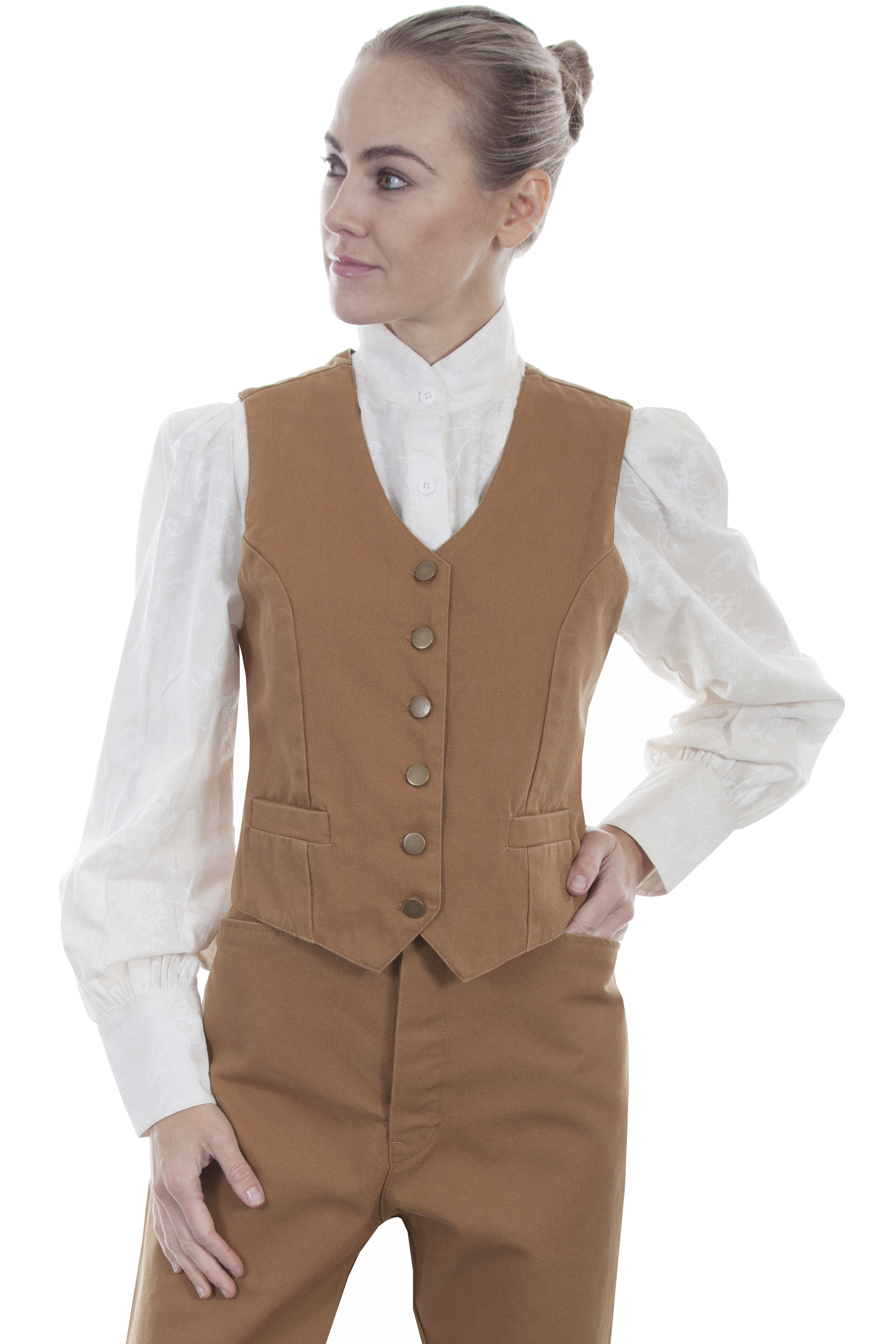 LADIES CANVAS VEST