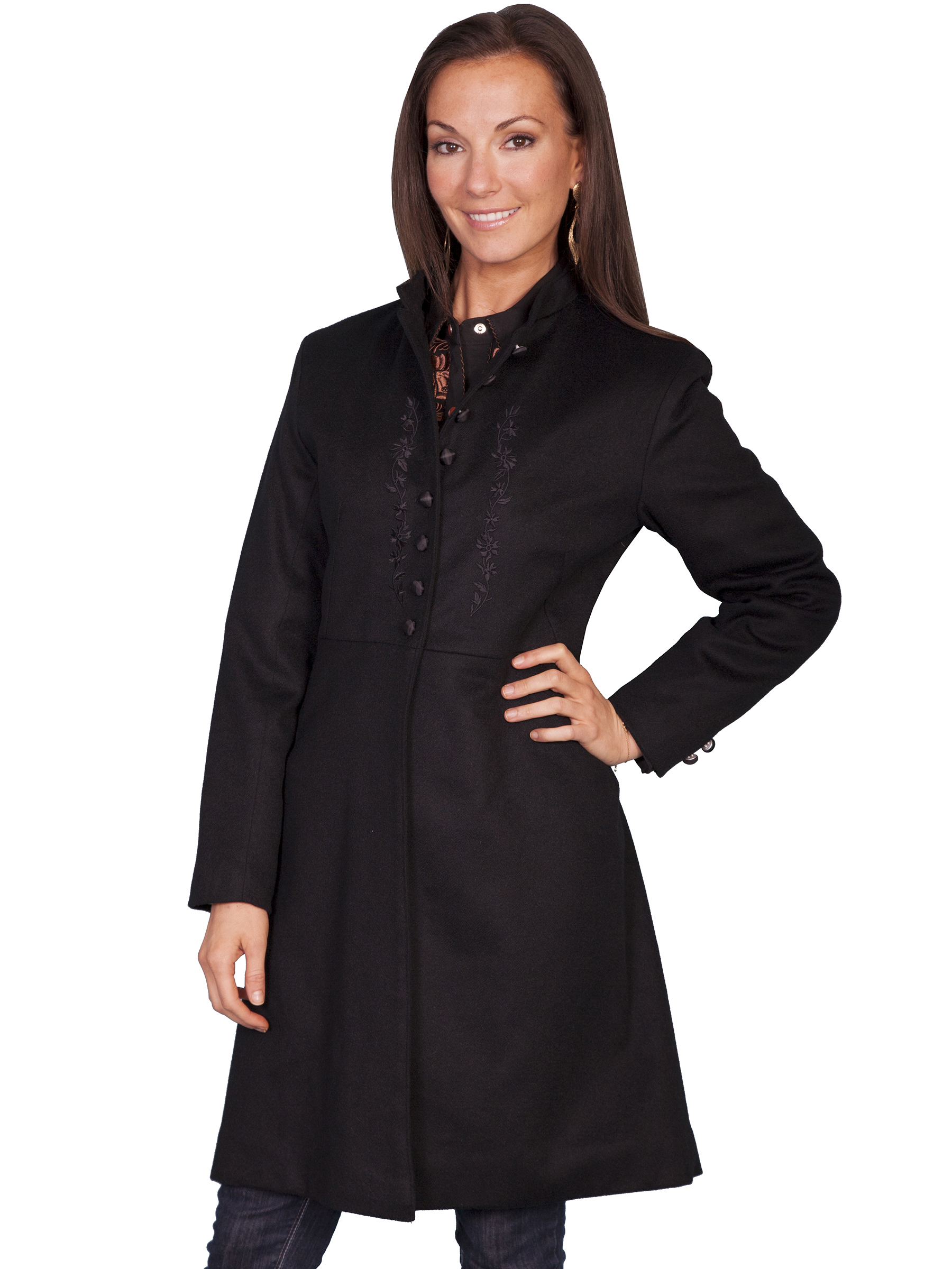 LADIES EMBROIDERED FROCK COAT