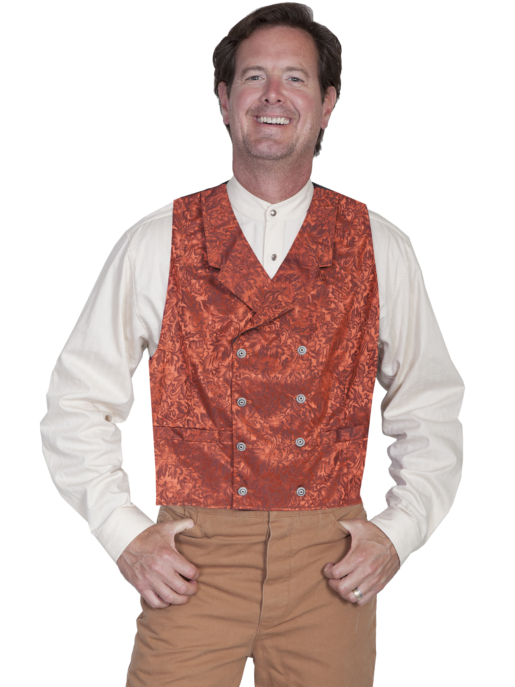 FLORAL SILK DOUBLE BREASTED VEST