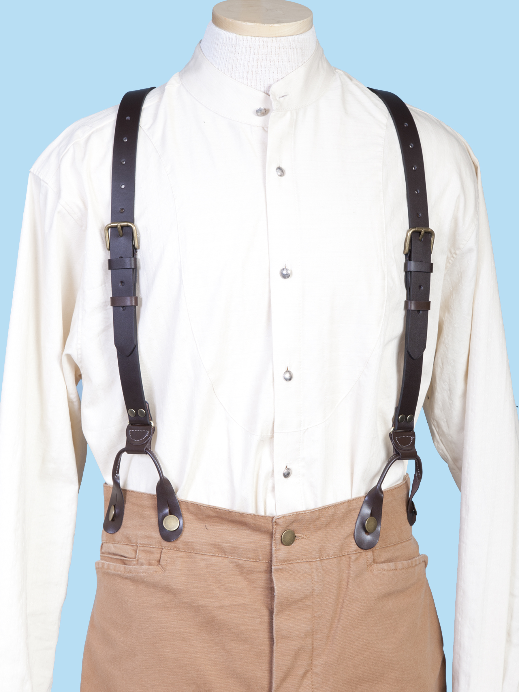 1' LEATHER SUSPENDERS 48' LONG