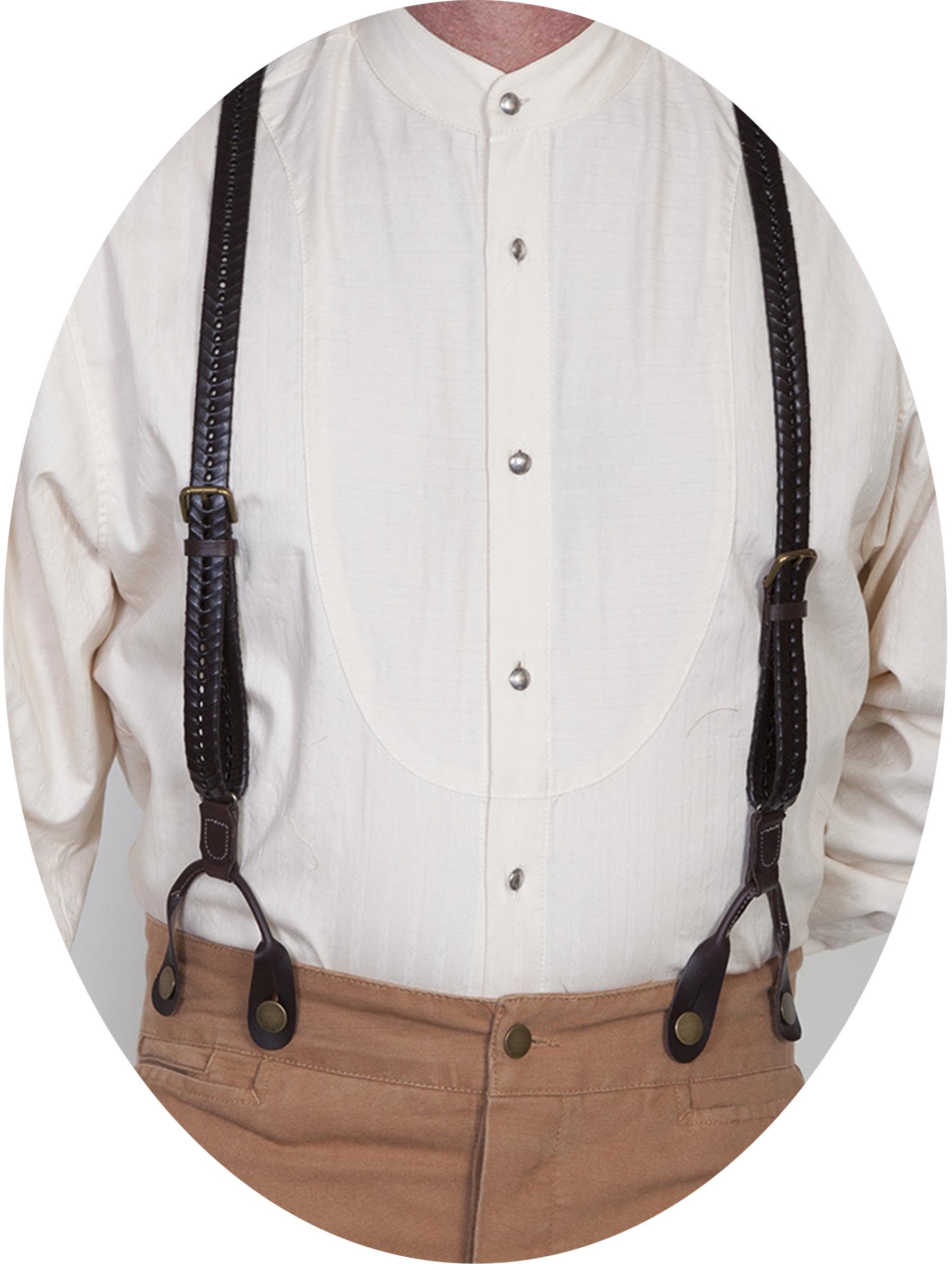 3/4 INCH flat braided suspender