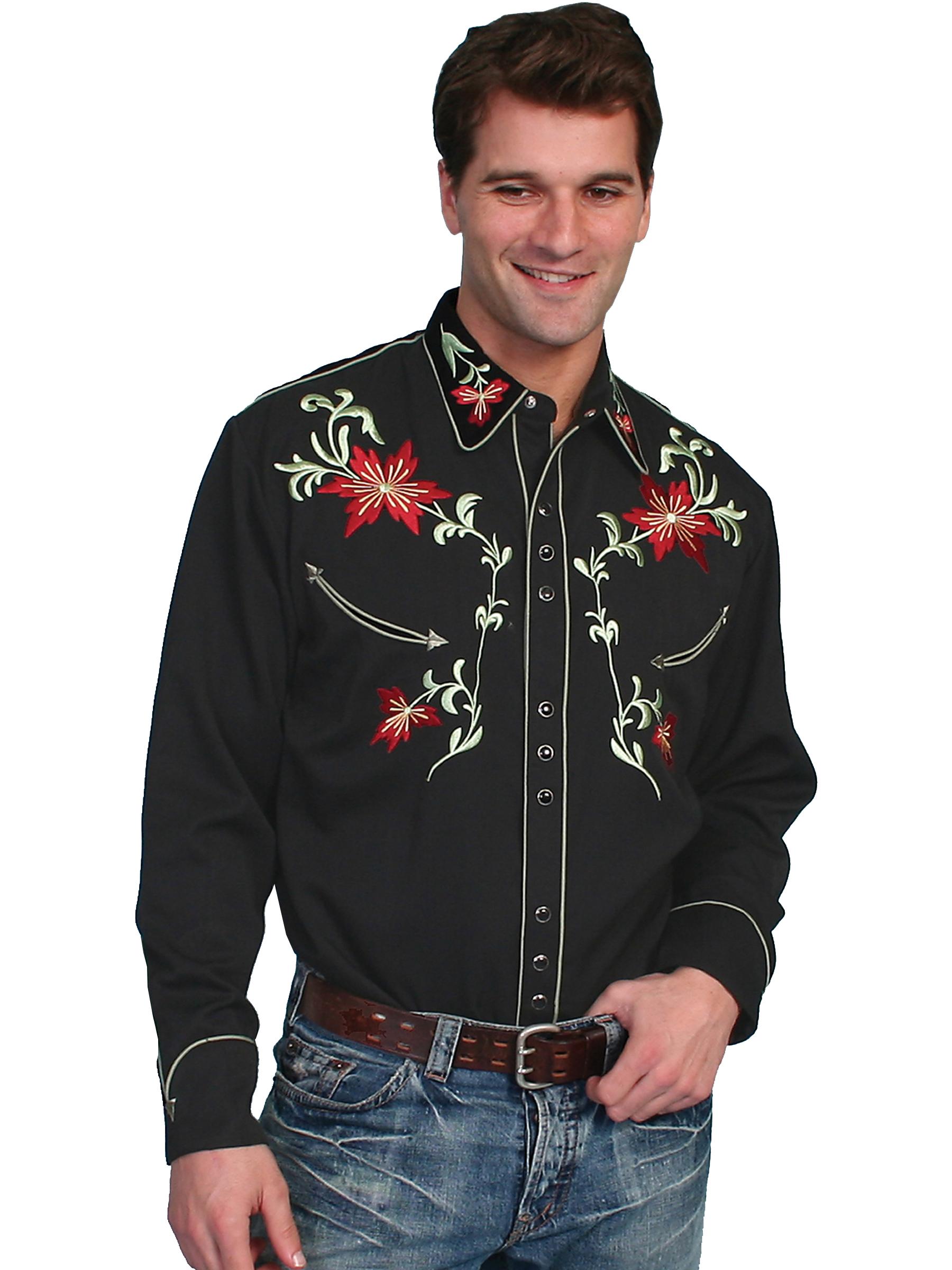 Poly/rayon blend snap front shirt