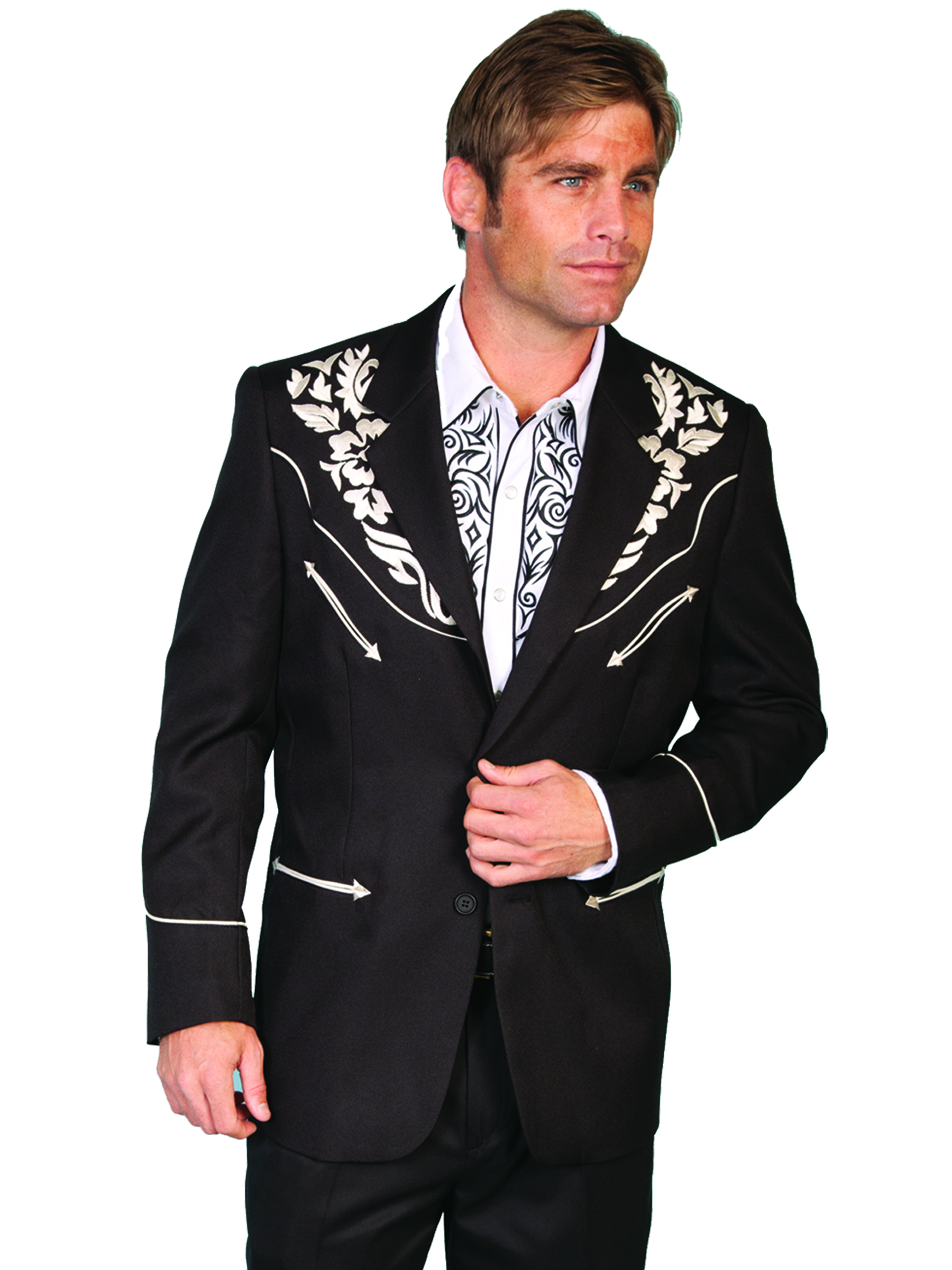 100% polyester button front blazer
